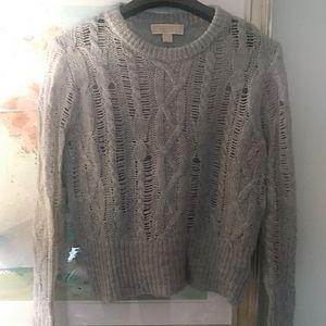 Michael Kors Cable sweater semi sheer